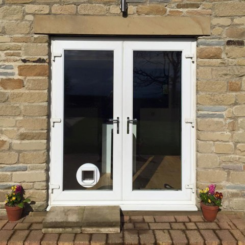 cat flap white